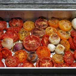 Roasted Tomatoes for Chilled Tomato Soup | Umami Girl