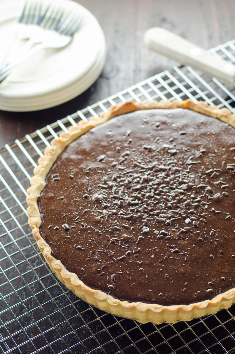 Bittersweet Chocolate Tart with Shortbread Crust | Umami Girl - A ...