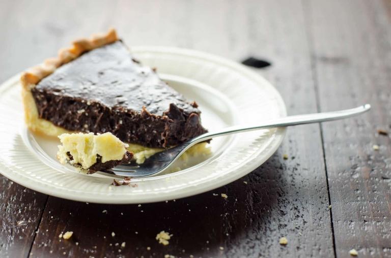 Bittersweet Chocolate Tart with Shortbread Crust   Umami Girl