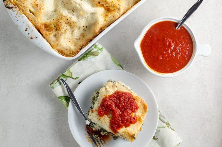 Spinach Lasagna with Portobellos and Béchamel