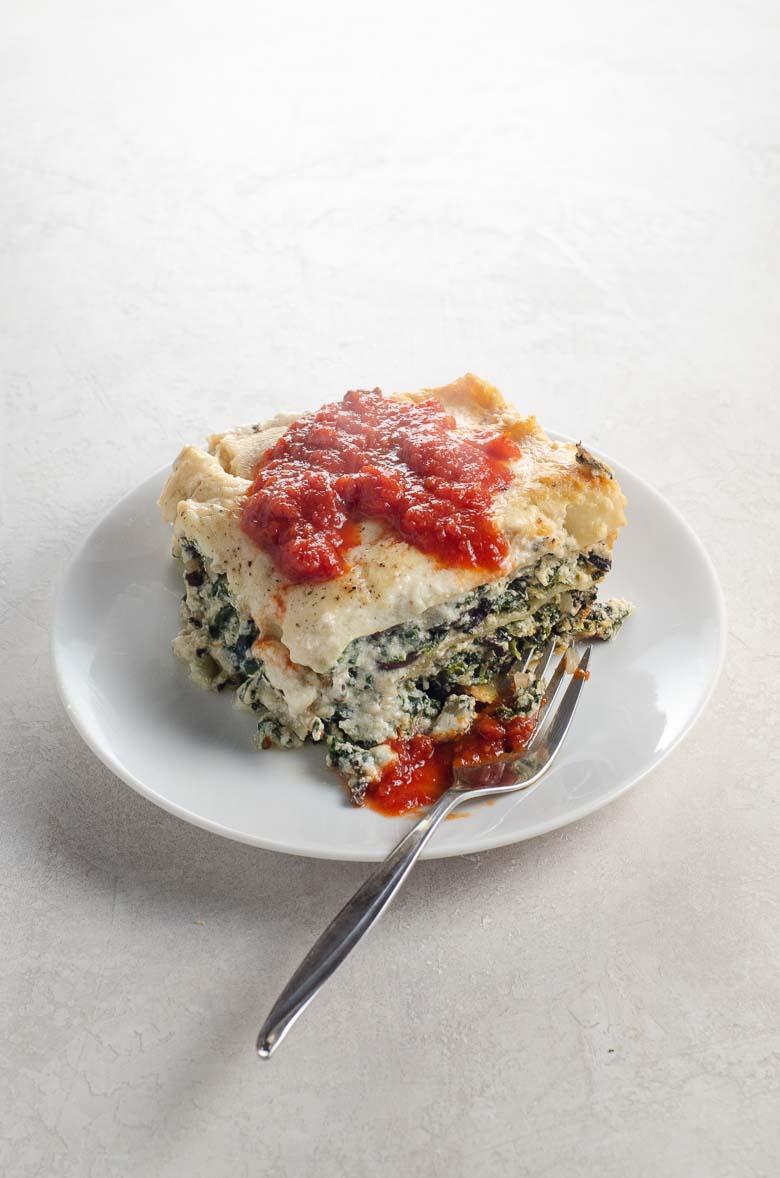 Spinach Lasagna with Portobellos and Bechamel Sauce 780   Umami Girl