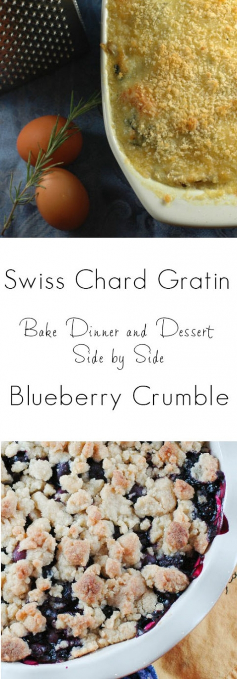 Swiss Chard Gratin and Blueberry Crumble | Umami Girl
