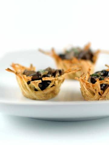 Elegant Appetizers Potato Nests Marsala Mushrooms 780   Umami Girl