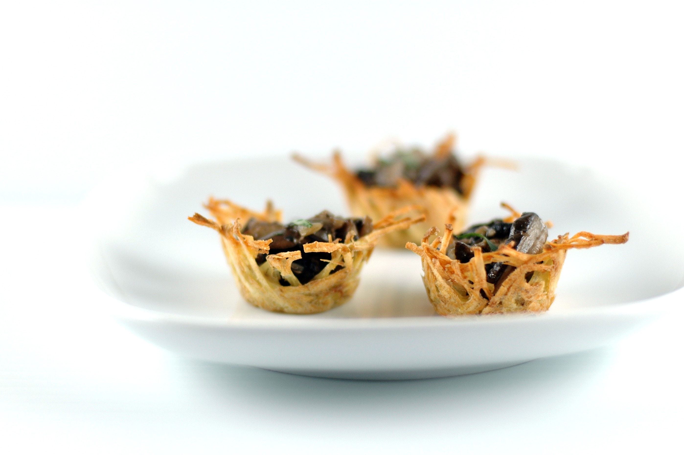 Holiday Finger Food: Marsala Mushroom Bites in Easy Potato Nests | Umami Girl