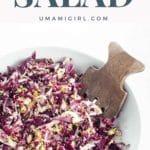 Zuni Cafe Radicchio Salad in a white bowl