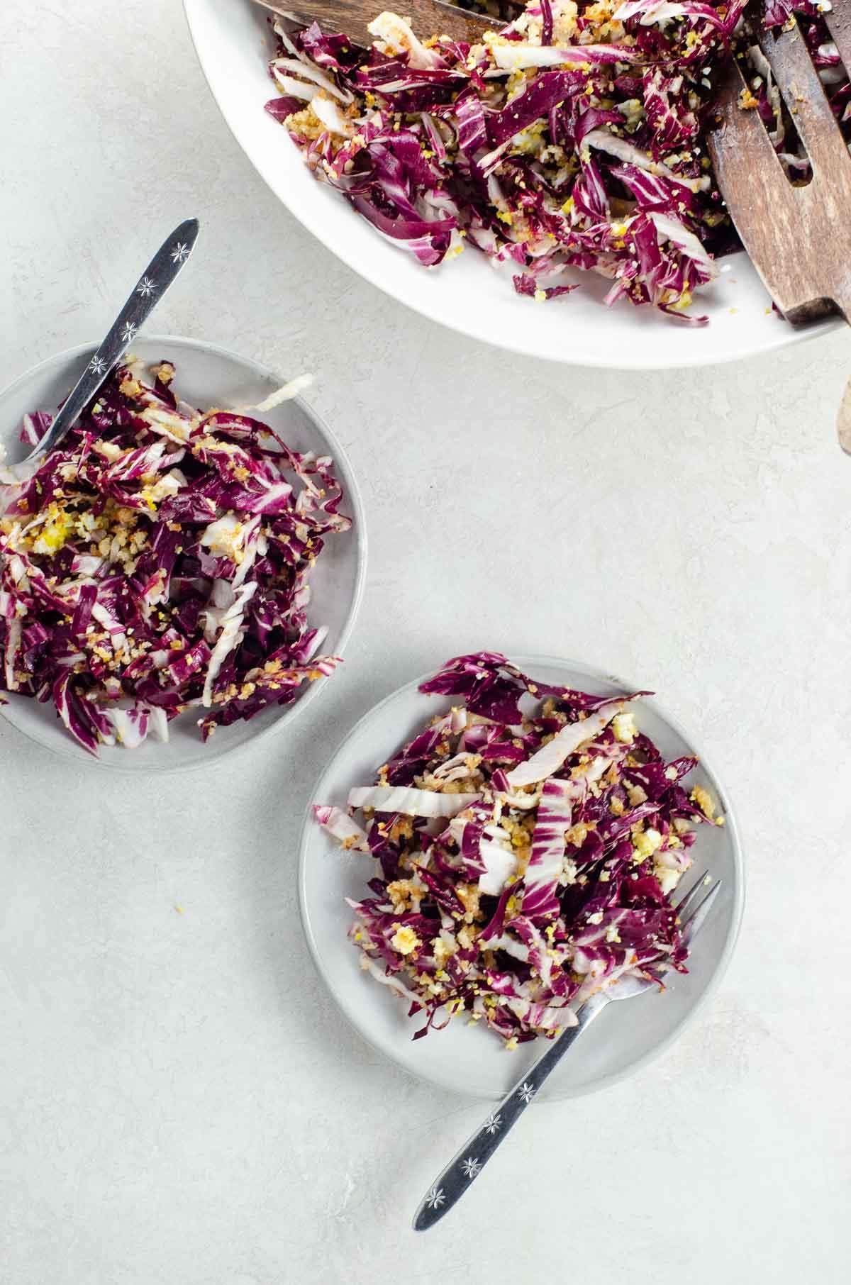Zuni Cafe Radicchio Salad on plates