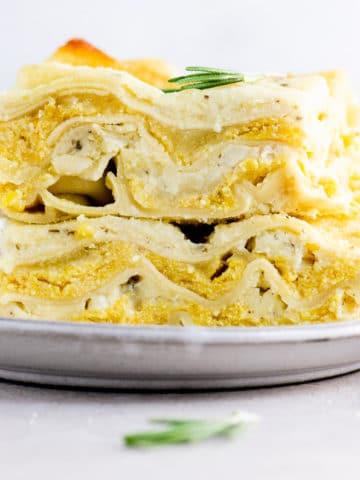 acorn squash lasagna on a plate