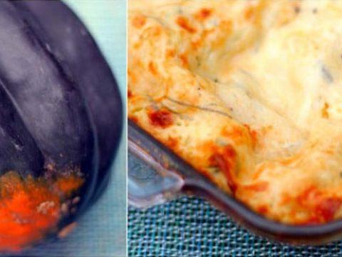 Acorn Squash Vegetarian Lasagna with Bechamel Sauce 780