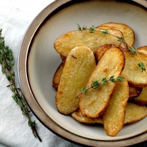 Salt and Vinegar Broiled Fingerling Potatoes
