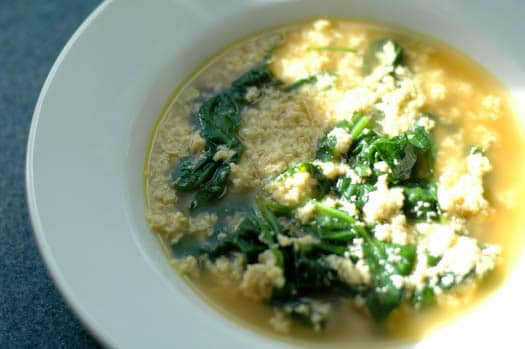 The Crisper Whisperer on Serious Eats: Stracciatella Soup with Spinach