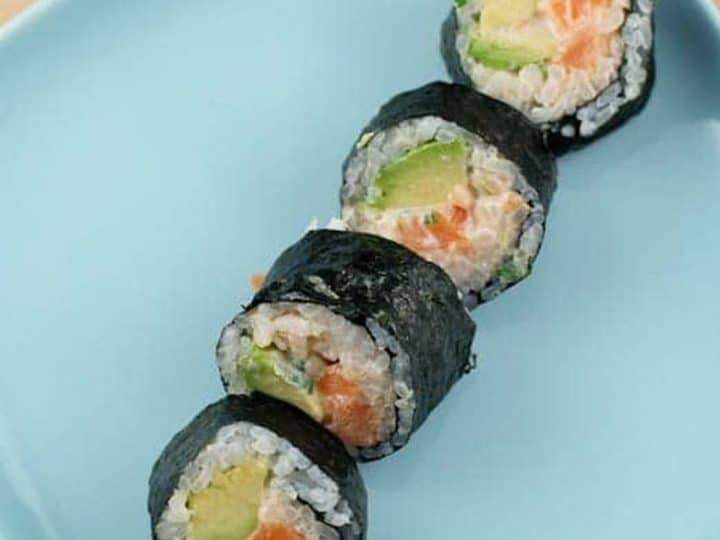 Spicy Salmon Roll with Avocado