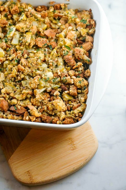 Vegetarian Cornbread and Apple Stuffing Silver Palate | Umami Girl