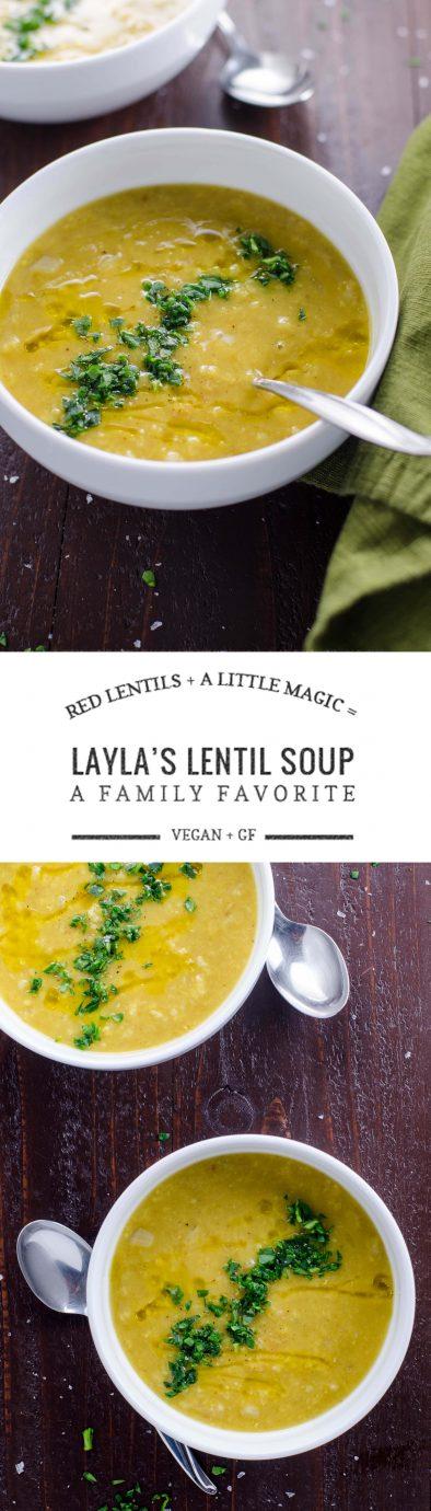 Layla's Lentil Soup: Easy Vegetarian Red Lentil Soup | Umami Girl
