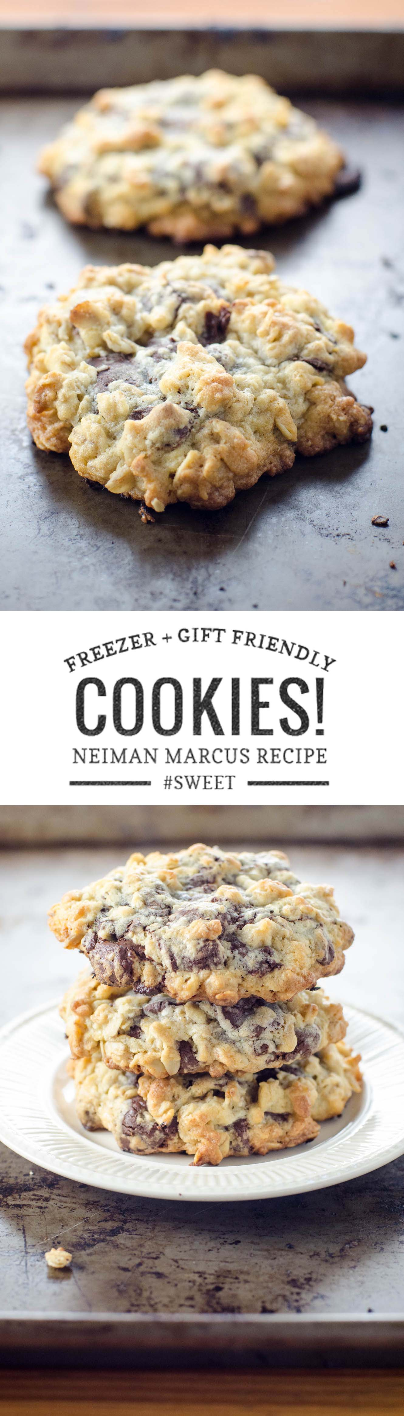 The Neiman Marcus cookie recipe of your dreams is easy to freeze for later and/or share as the world's best hostess gift.