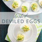 Herbed Deviled Eggs _ Umami Girl PIN
