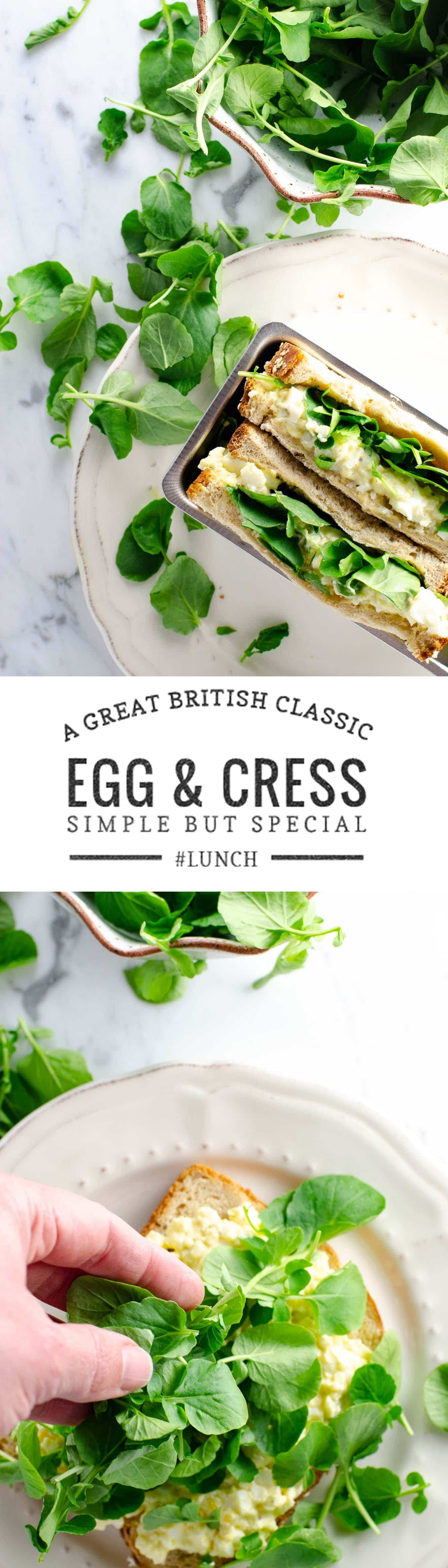 A simple egg and watercress sandwich (alias Egg & Cress) is a British classic that's simple but special.