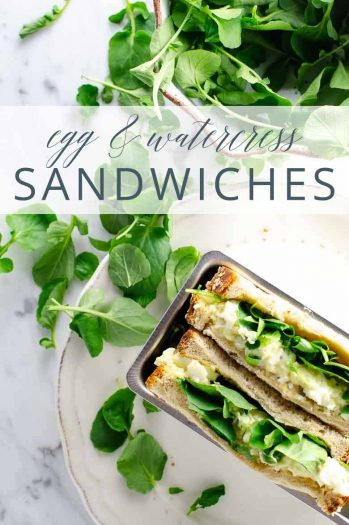 Egg and Watercress Sandwiches _ Umami Girl PIN