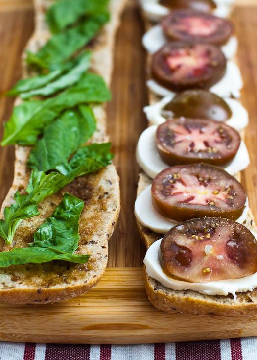 Caprese Sandwich Mozzarella Tomato Basil | Umami Girl