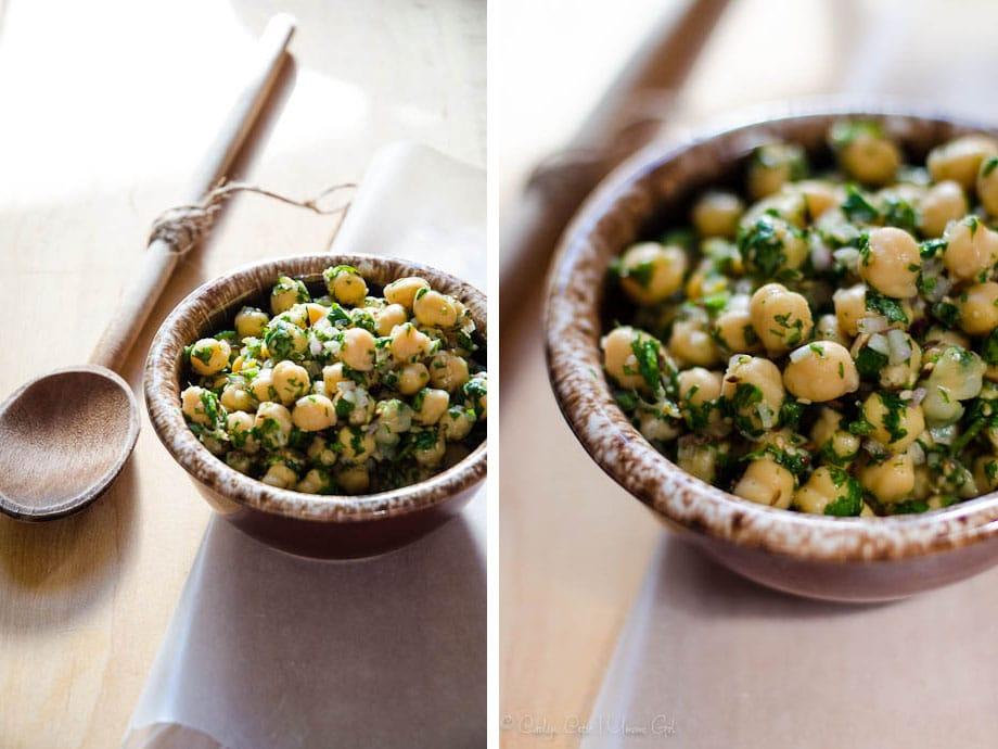 Deconstructed Hummus Chickpea Salad | Umami Girl