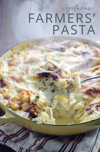 Farmers' Pasta Vegetarian Baked Pasta to Feed a Crowd _ Umami Girl PIN