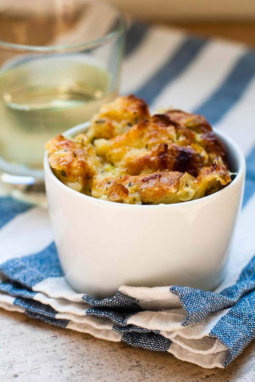 Savory Bread Pudding Gruyere Chanterelles Jill Silverman Hough 780