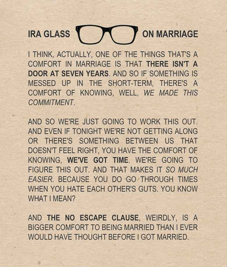 Ira Glass on Marriage 780 | Umami Girl