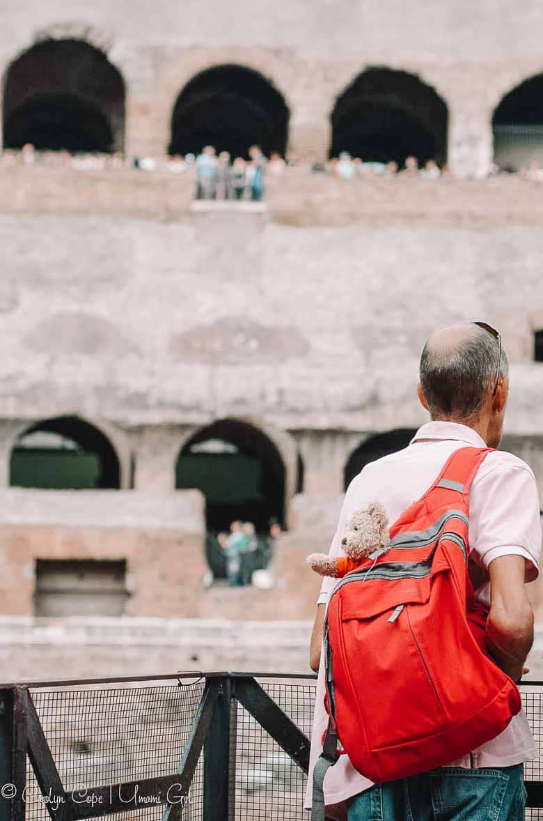Beary Cute Visitor to the Colosseum Rome | Umami Girl 780