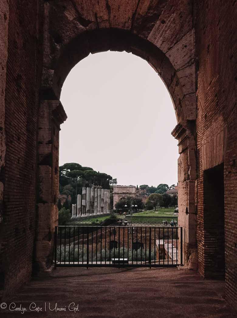Colosseum Arch View Rome | Umami Girl 780