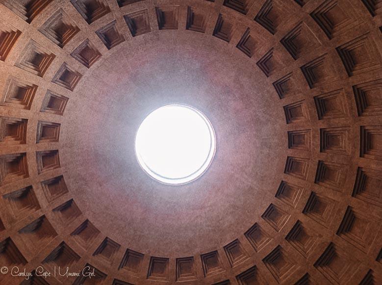 Pantheon Skylight Rome | Umami Girl 780