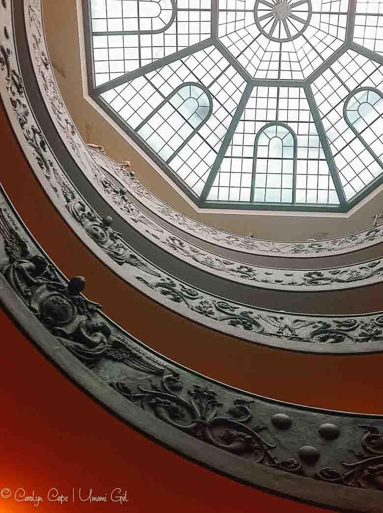 Vatican Spiral Staircase Rome | Umami Girl 780