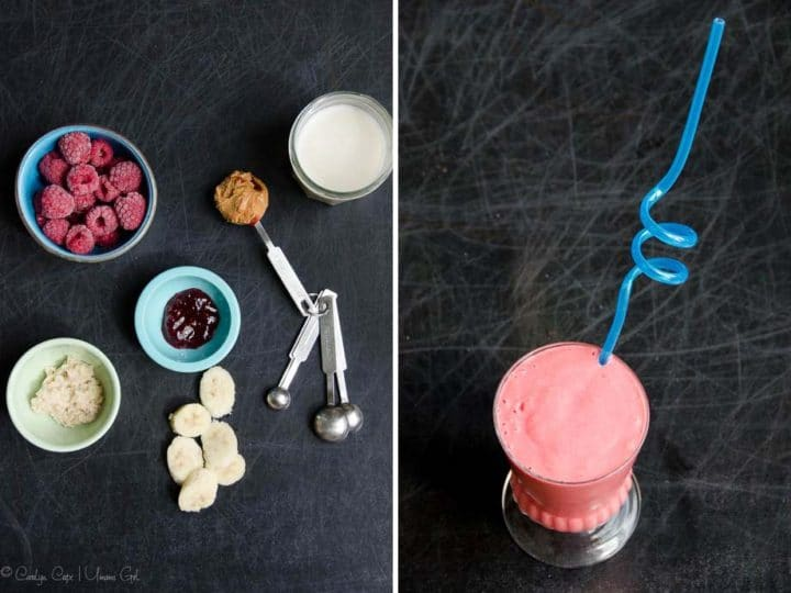Peanut Butter and Jelly Smoothie Recipe | Umami Girl