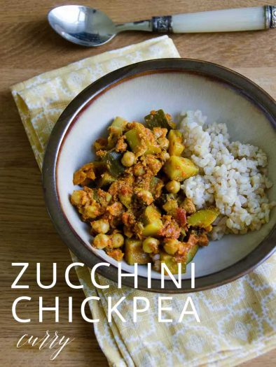 Zucchini and chickpea curry by Umami Girl