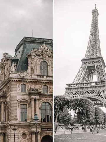 Eiffel Tower and Louvre Plaza Paris | Umami Girl 780