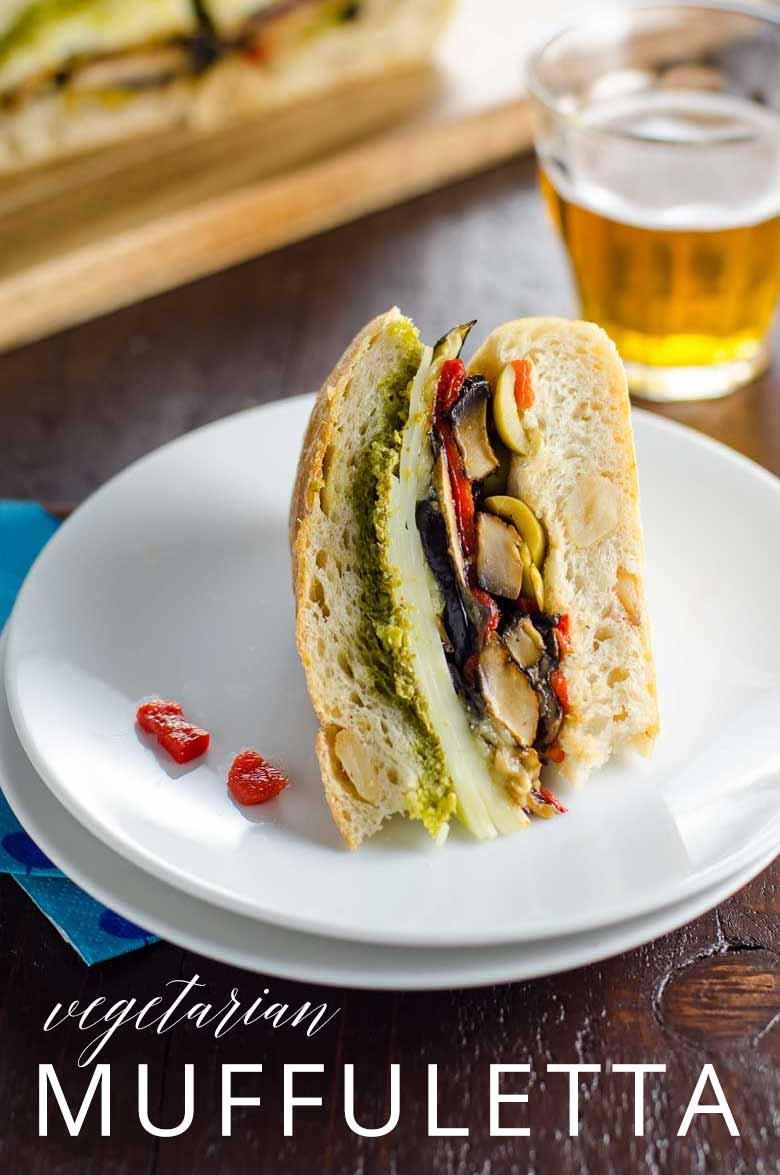 Vegetarian Muffuletta Sandwich _ Umami Girl PIN