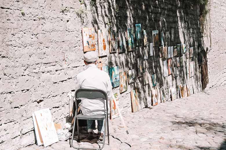 Painter Old Town Tallinn Estonia | Umami Girl 780