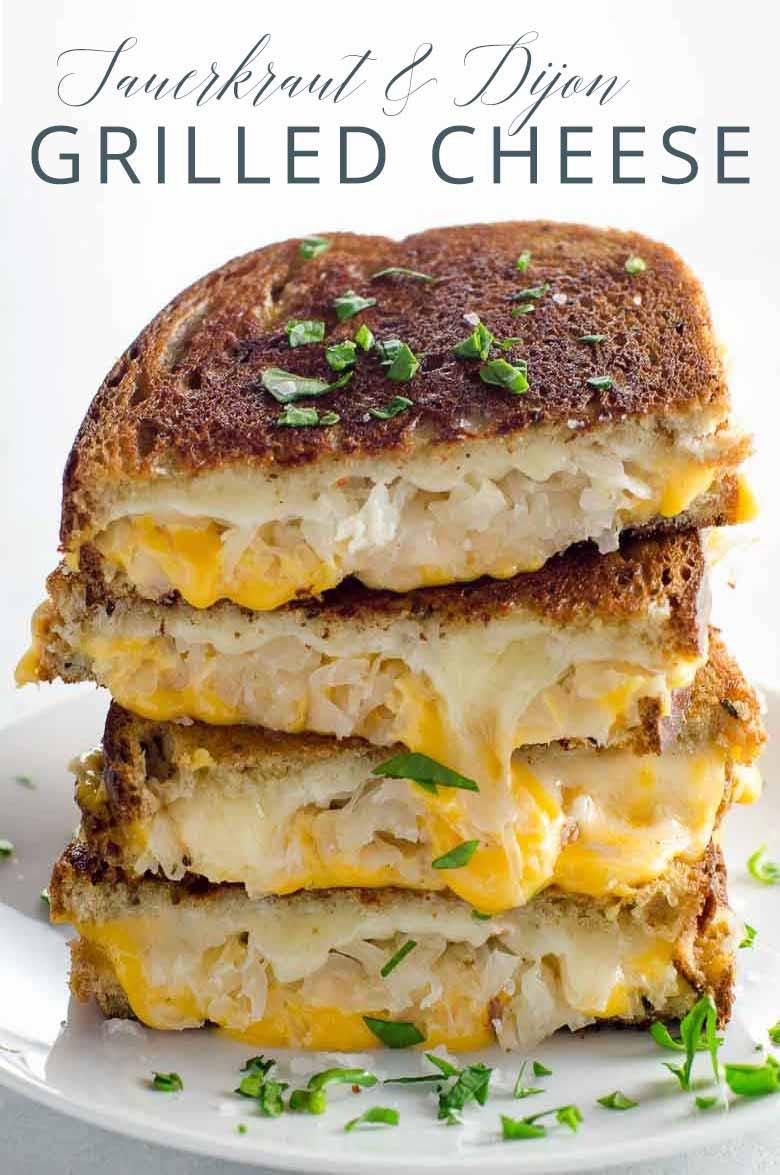 Grilled Cheese with Sauerkraut and Dijon _ Umami Girl PIN