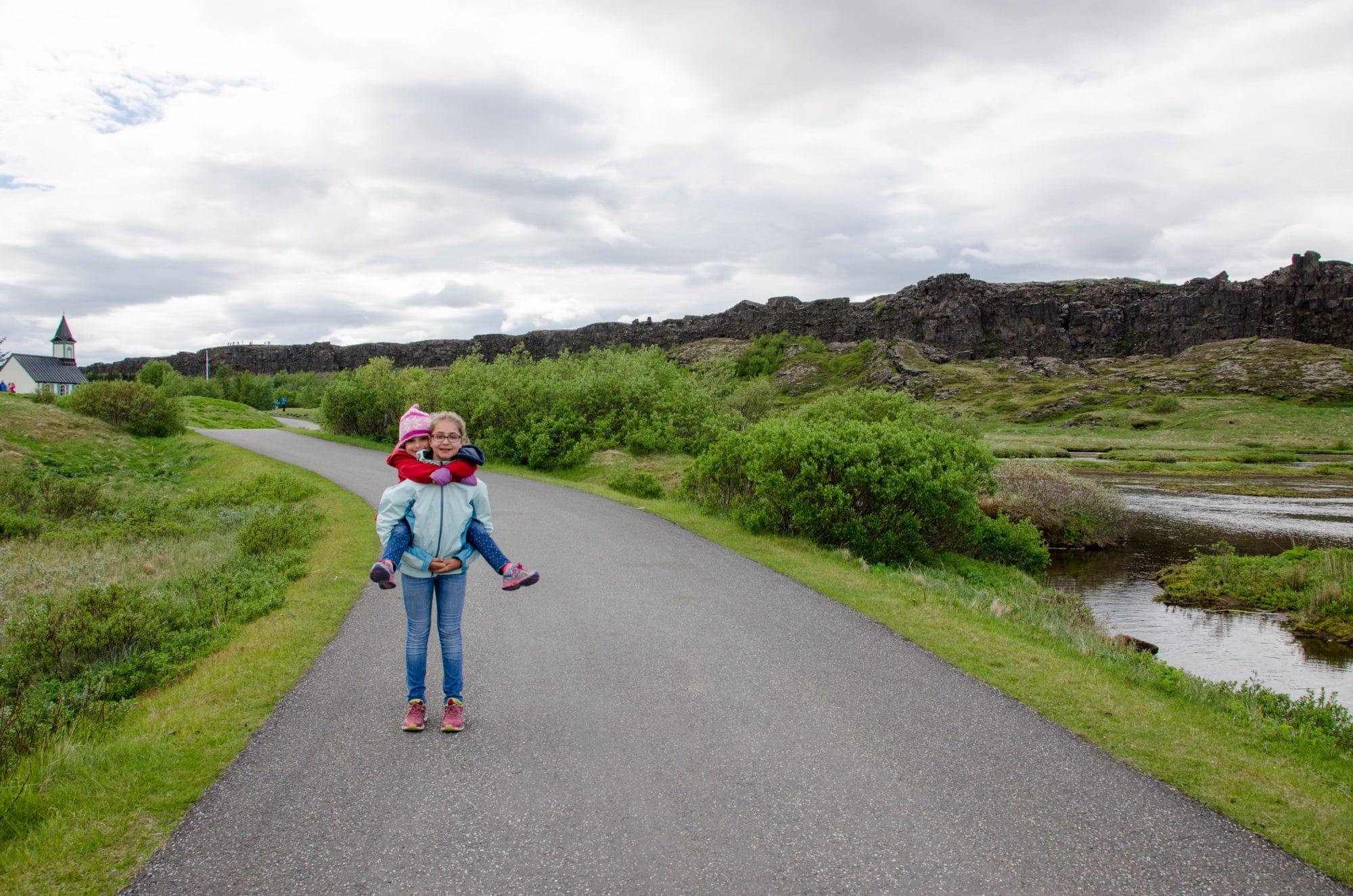 Piggyback at Thingvellir National Park Iceland | Umami Girl