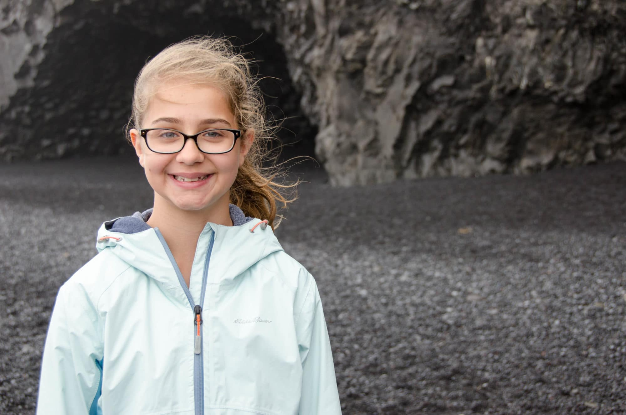 Portrait at Reynisfjara Black Sand Beach Iceland | Umami Girl
