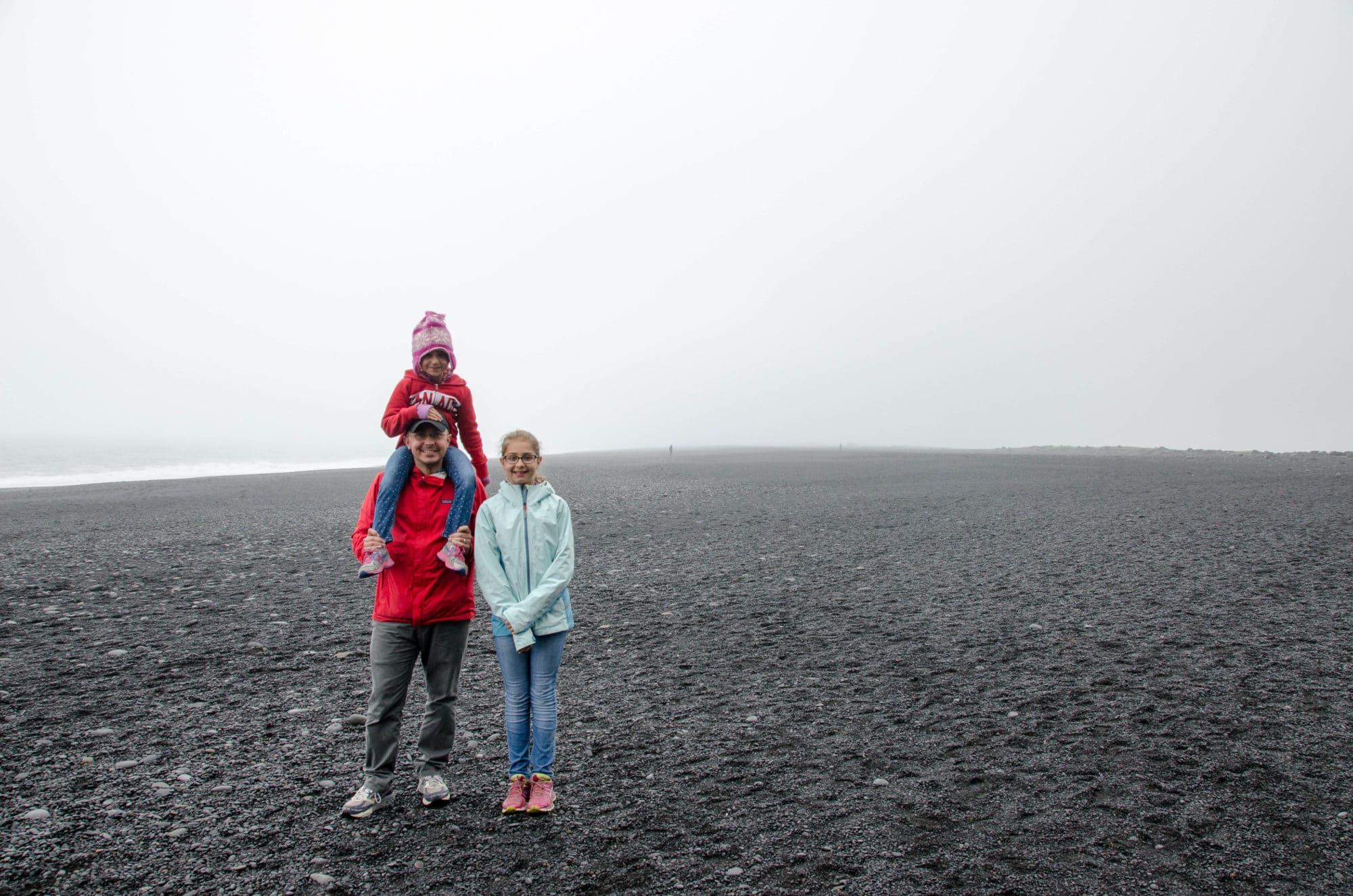 Reynisfjara Black Sand Beach Iceland Family | Umami Girl