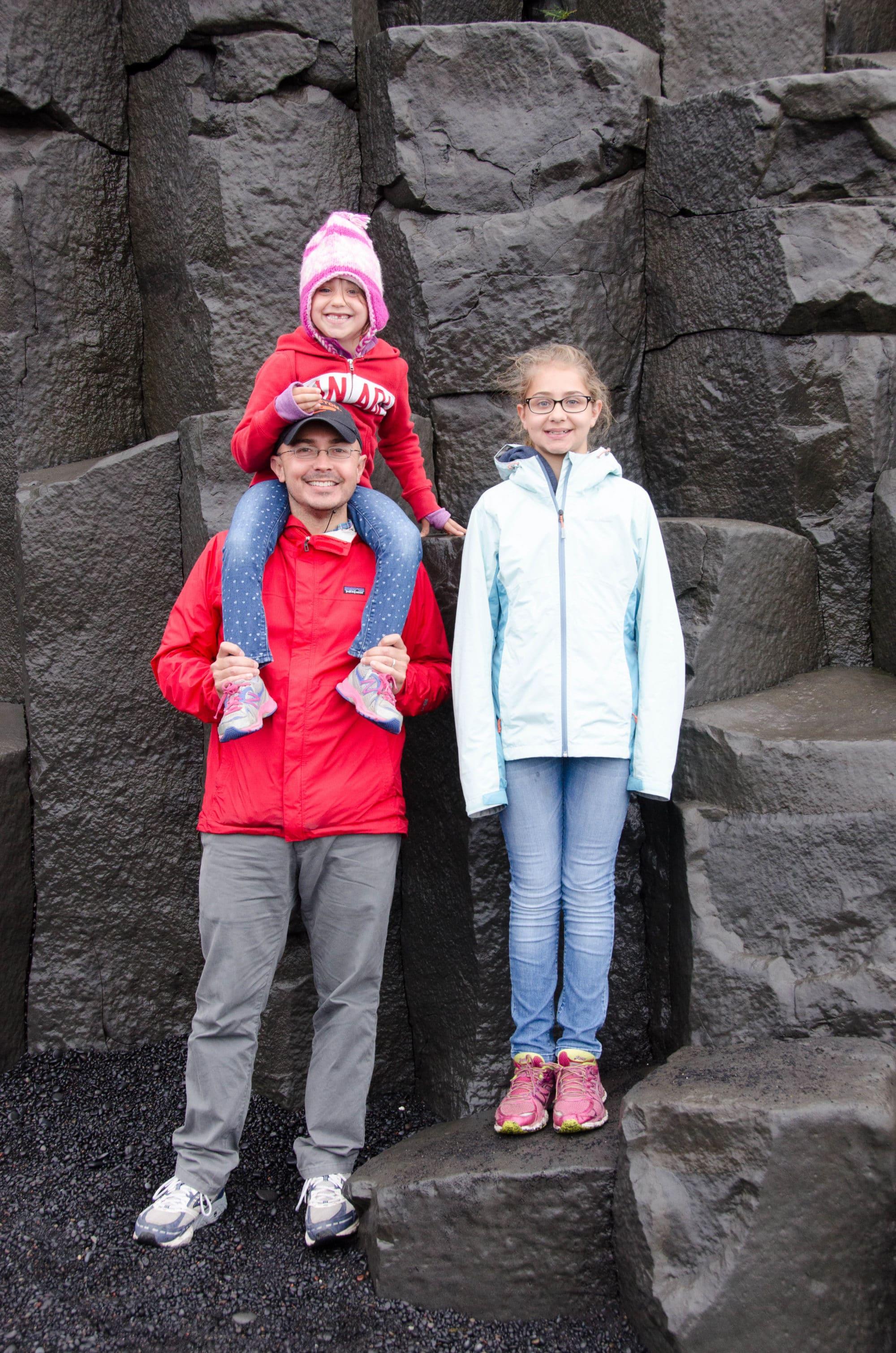 Reynisfjara Black Sand Beach Iceland Family Vertical | Umami Girl