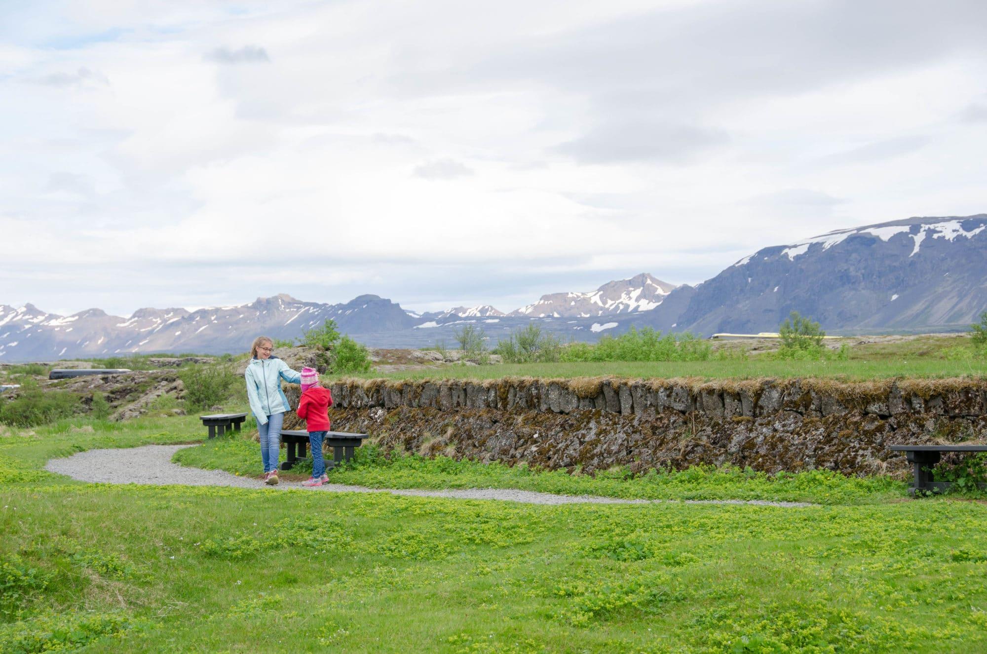 Thingvellir National Park Iceland Sisters Playing | Umami Girl