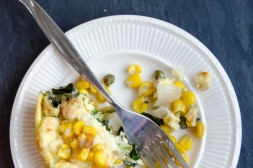Frittata with Corn, Cheddar and Spinach