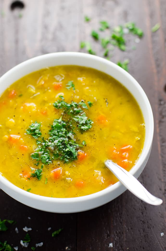 Easy Vegan Split Pea Soup Recipe with Turmeric