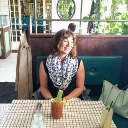 With Wasabi Bloody Mary at Hillside Farmacy Austin TX   Umami Girl