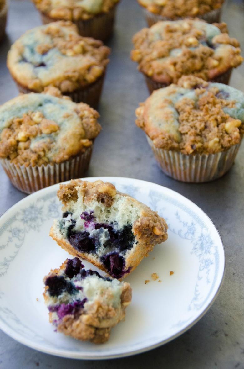 Blueberry Yogurt Coffee Cake Muffins