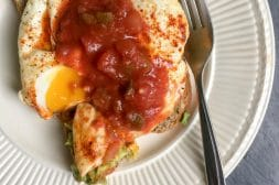 Avocado Toast Fried Eggs with Smoked Paprika and Salsa | Umami Girl