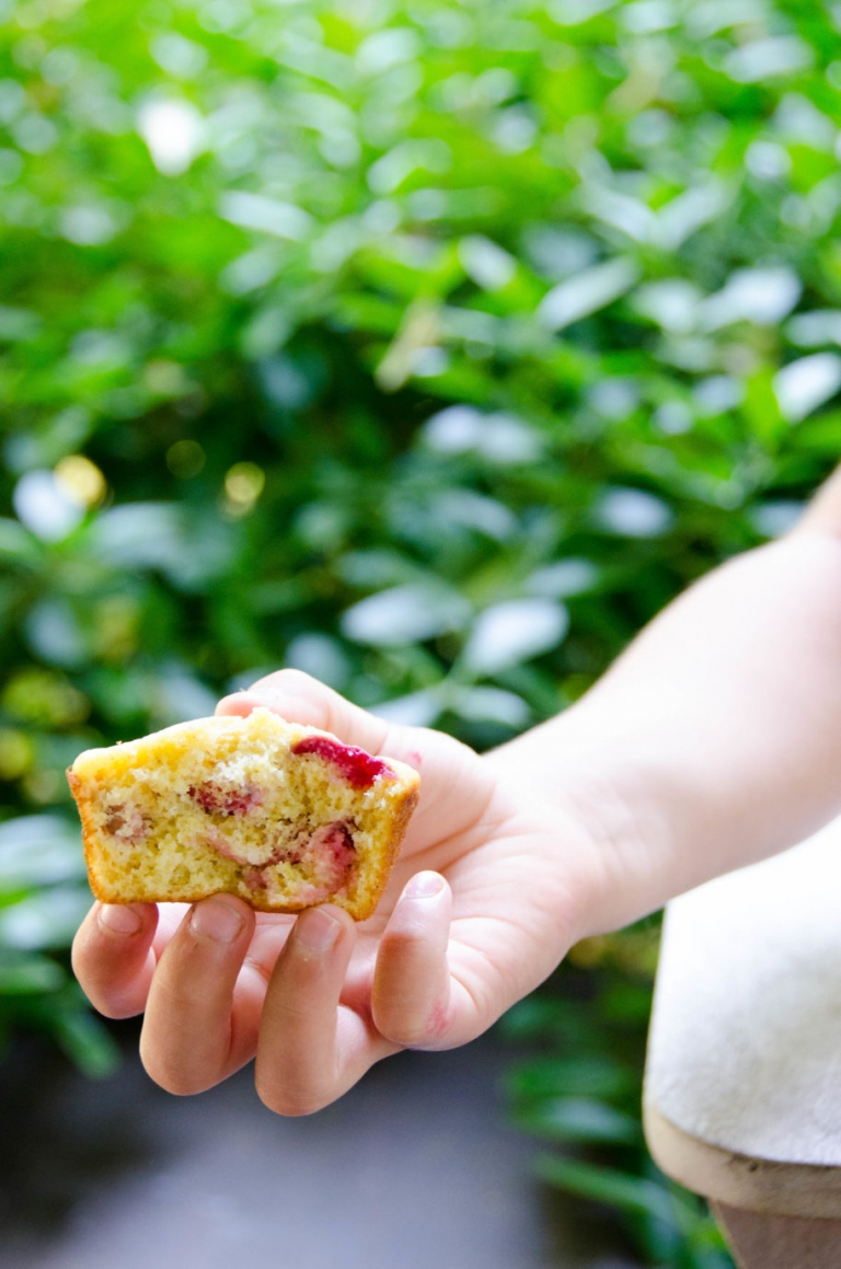 Sour Cherry Corn Muffins | Umami Girl