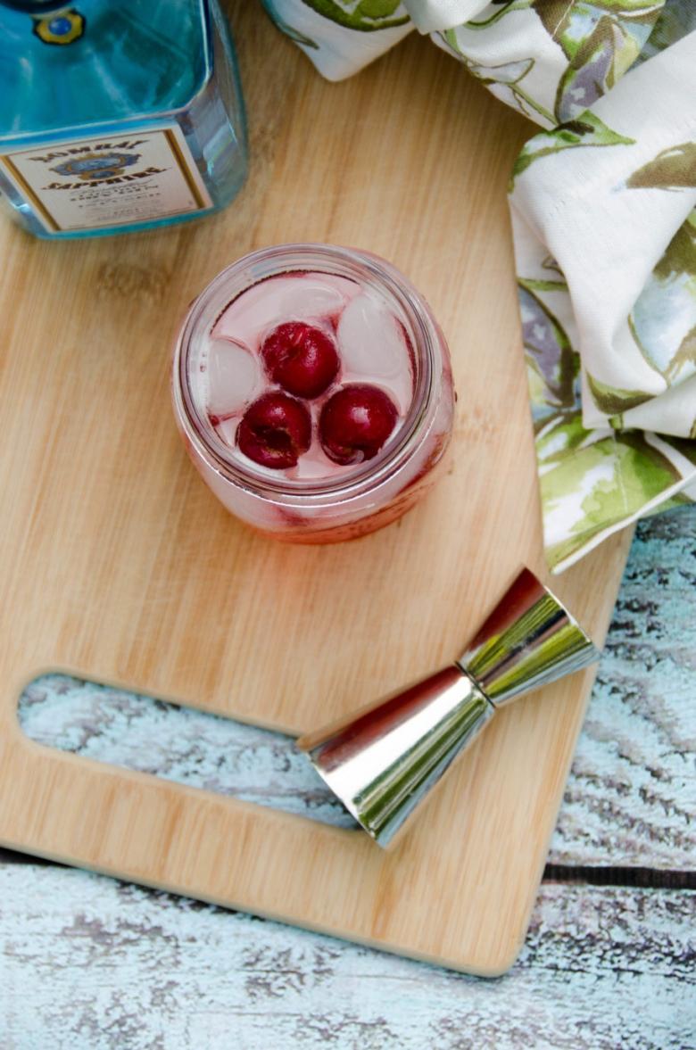 Sour Cherry French 75   Umami Girl