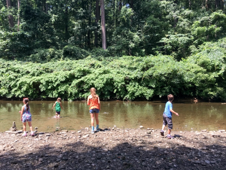 Skipping Rocks on the Wissahickon | Umami Girl