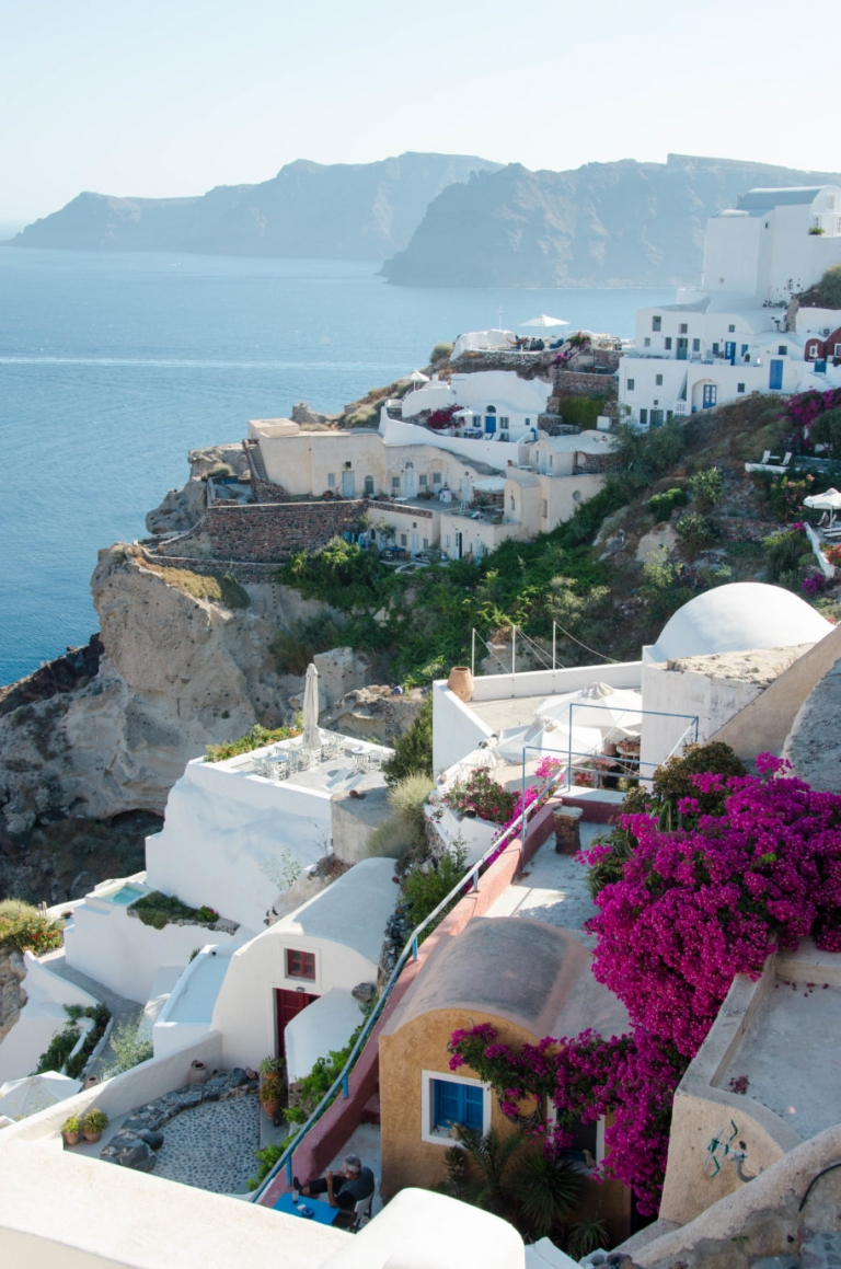 Oia Village Santorini Greece Cliffs II | Umami Girl